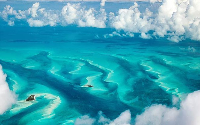 Bahamas from above