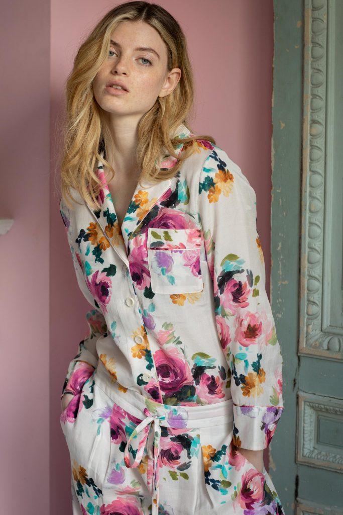 Orchard Moon Sustainable luxury pyjamas Camille print