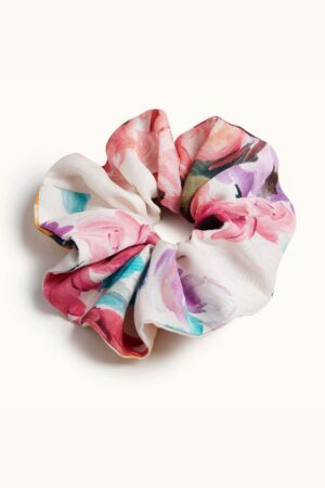 Orchard Moon Sustainable luxury scrunchie Camille print