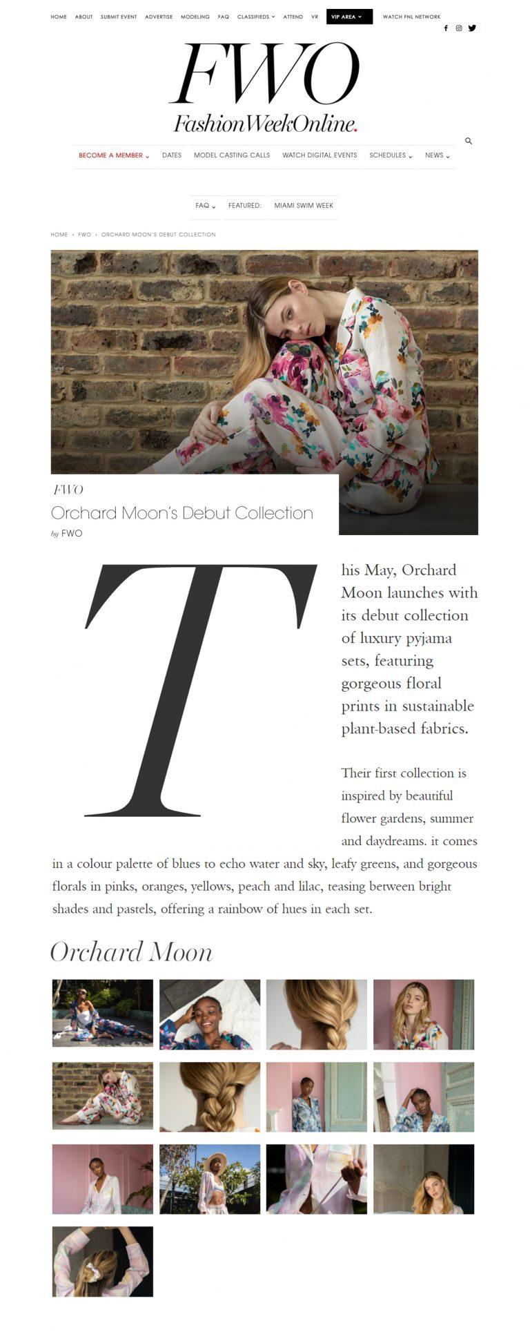 Orchard Moon, Fashion Week Online, May 2021