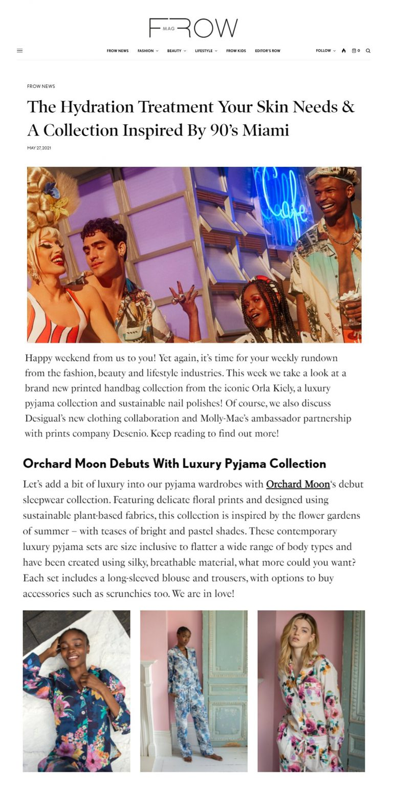 Orchard Moon, Frow Magazine May 2021