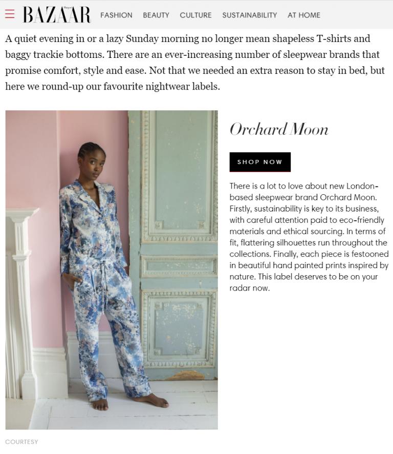 Orchard Moon, Harpers Bazaar press May 2021