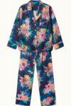 Orchard Moon Sustainable luxury pyjamas Calypso print