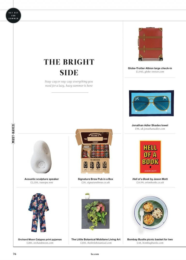 Orchard Moon, BA High Life Magazine, July/August 2021
