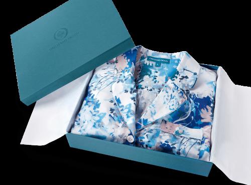 Orchard Moon luxury gift box Ephemeral Bloom print pyjamas